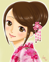 Yukata Girl by Pink-world