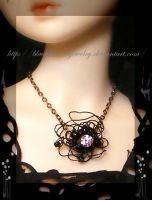 Black Pendant for a doll by blackcurrantjewelry