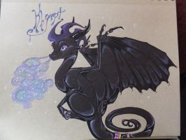 Khrypt the Dewdrop Dragon!!! by FoxDragonLover