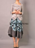 Blue Victorian Pleated Skirt12 by yystudio