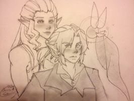 OoT Ship: Zelda and Link by Onigami-Sama