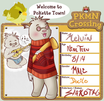 PKMN Crossing - Melvin the Slakoth by AllegroAlley
