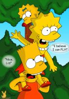 Bart Lisa and Maggie by DandX