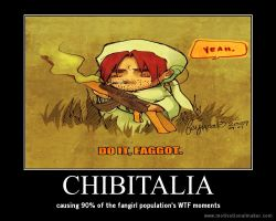 chibitalia motivational poster by LittleGayWolf