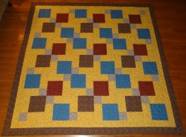 Disappearing 9 Patch Quilt by quiltoni