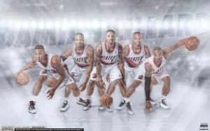 Damian Lillard Ice Cold Wallpaper by Angelmaker666