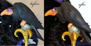 OOAK Limited Edition Maleficent raven Diablo by lulemee