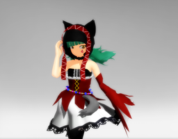 -MMD- Cat food miku by ginconomp