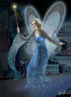 The Blue Fairy ala Tenggren by snowsowhite