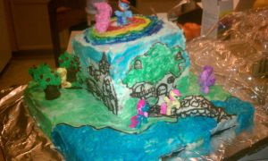 My Little Pony Cake 1 by SaneTezz