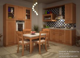 Kitchen Render 03 by cenkkara