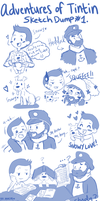 Adventures of Tintin Sketch Dump no.1 by Abie05