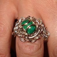 Maille ring with stone by Gilgamesh06