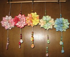 Kusudama Flower Ball Ornaments by AssassinedAngel