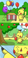 Pikachu and Balloon by selphy6