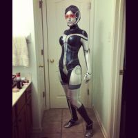 EDI Mass Effect costume-test picture by PaleFunnyGhost