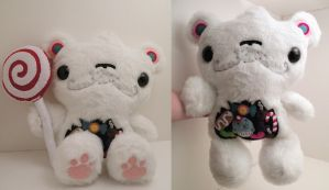 Klondike the Custom Candy Bear by loveandasandwich