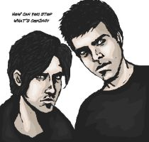 Exploding Men- Peter and Sylar by MissEgypt
