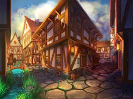 The Village by Amanda-Kihlstrom