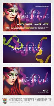 Mardi Gras and Carnival Flyer Template PSD by EAMejia