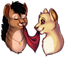 c: Skye and Raine by DieZeitmaschine