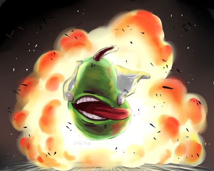 One Punch Pear by akittyk
