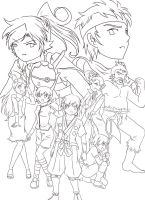 PKMN: Johto GYM Leaders - HGSS by Mikan-chan