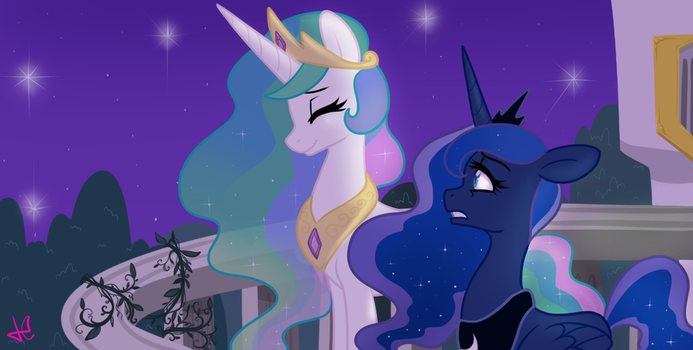 Update WIP Celestia and Luna by MonstreNoir