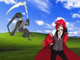 Undertaker and Grell windowsXP by firedevlin
