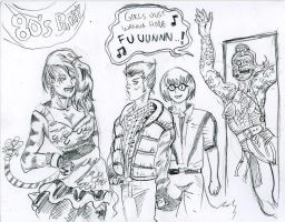 80's party Marvel by JohnsDead