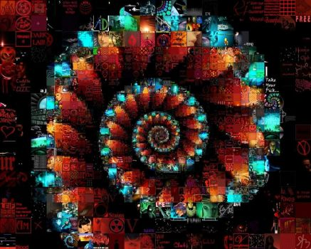 Spiral Photomosaic by drsparc