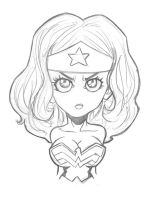 Wonder Woman, pencil by LorenzoSabia