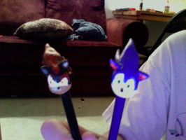 Sonic And Shadow on Pencils by hobfrog07