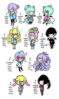 PERSONAL OCs (UPDATED) by strawberrysexual