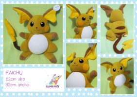 RAICHU POKEMON PLUSHIE by chocoloverx3