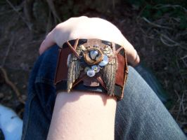 Steampunk Wristband: 2 by Xileohp