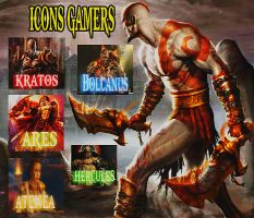 Icons Gamers Dios Dela Guerra by wenvell
