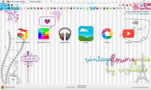 VintageFlowersParis Theme for GoogleChrome by vizhiible