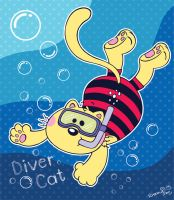Diver Cat by Frog-FrogBR