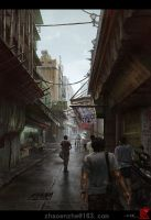 Macau sketches - the streets by zhaoenzhe