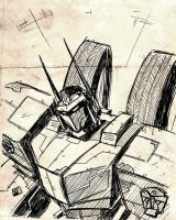 WFC Optimus work sketch by dcjosh