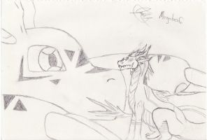 Guilmon and Little Drakel by Lare-yoshi