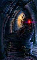 Inside a daedric shrine by Lelek1980