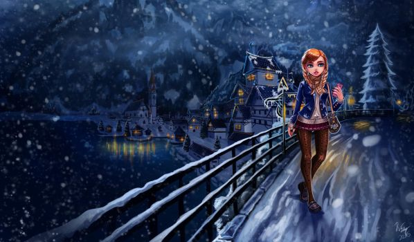 Anna from Frozen by Deadguybeer