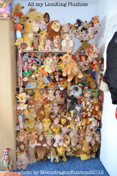 All my Lion King plushies - New Photo by MoondragonEismond