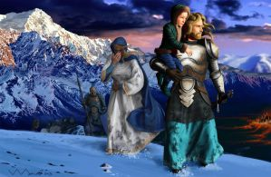 The Fall Of Gondolin by ivanalekseich