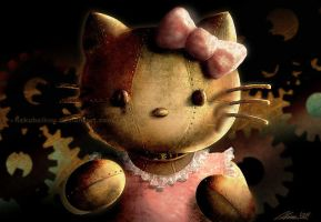 steampunk hello kitty by hakubaikou