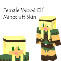 Wood Elf Female Minecraft Skin by Amayanina