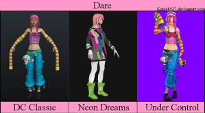 Dare - all outfits by Kami4427