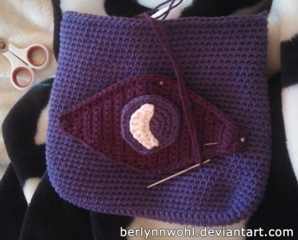 Welcome to Night Vale shoulder bag (in progress) by berlynnwohl